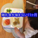 離乳食を噛まない11ヶ月