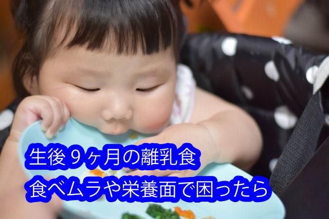 生後9ヶ月の離乳食 食べムラや栄養面で困ったら